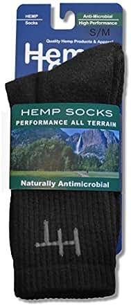 Black Hemptopia Hemp Socks - Size: Small/Medium
