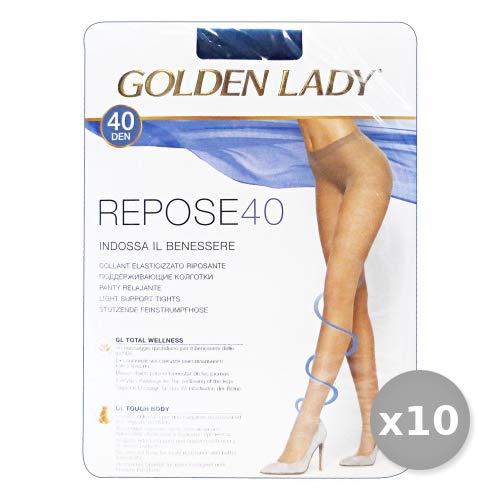 Golden Lady Repose Set 10 Repose Collant 40 den Marrone Daino Taglia XL 36g