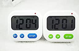 Smileto® Multifunction Clock & Timer With Vibration Function, Blue Blacklight, Used for Sleeping / Calculation / Kitchen / Nursing / Lab / Meeting (Blue)