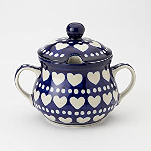 Polish Pottery Sugar Bowl – Heart to Heart
