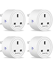 bakibo WiFi Smart Plug Socket Compatible with Alexa, Google Home and IFTTT, Mini Outlet with Energy Monitoring, Timer, Schedule, Voice Remote Control from Anywhere(Upgrade Version)
