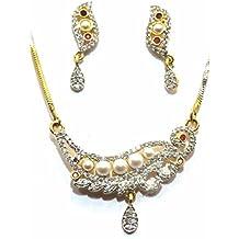 Shingar Jewelry Ksvk Jewels Cubic Zirconia (CZ) Tanmania Pendant Set For Women (9939-psad-ruby)
