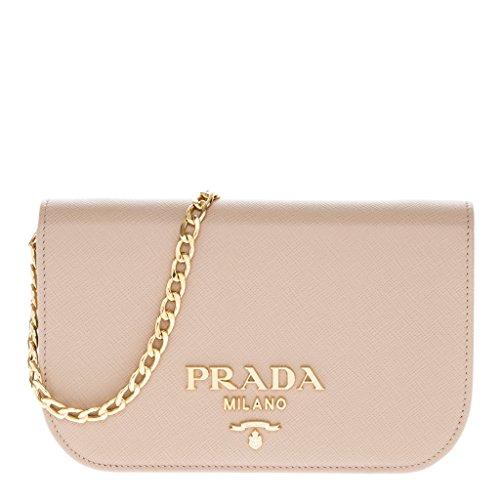 Prada Women's Saffiano Leather Shoulder Bag Beige by Prada
