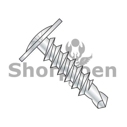 SHORPIOEN Phillips Modified Truss Head Self-Drilling Tek Screw, Zinc-Plated Steel for Sheet Metal Attaches Wire Lath to Metal Studs (100, 8 x 1