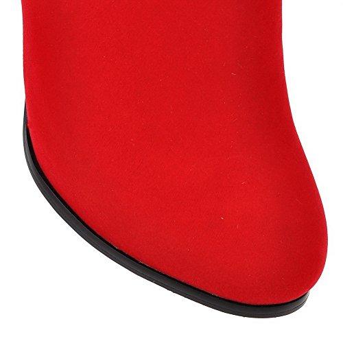 BalaMasa  Abl09341, Sandales Compensées femme - Rouge - Red,