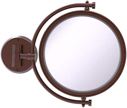 Allied Brass WM-4 3X 8 Inch Wall Mounted 3X Magnification Make-Up Mirror