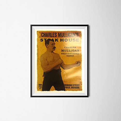 Charles Mulligan's Steakhouse Poster Ron Swanson Parks And Recreation Rec Gift