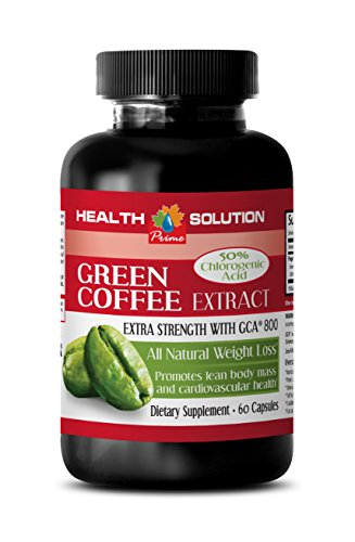 Weight loss pills for women - GREEN COFFEE BEAN EXTRACT - Green coffee cleanse - 1 Bottle 60 Capsules by Health Solution Prime