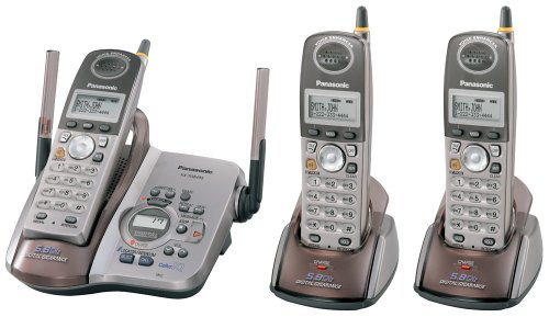 Panasonic KX-TG5433M 5.8 GHz DSS Cordless Phone with Answering System and Three Handsets