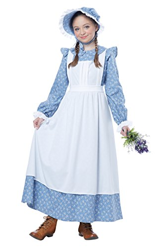 California Costumes Pioneer Girl Child Costume, Blue, -
