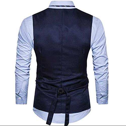 41G8MZ0oWeL. SS500  - Creative Mens Slim Fit Casual Waist Coat 36 Blue Grey