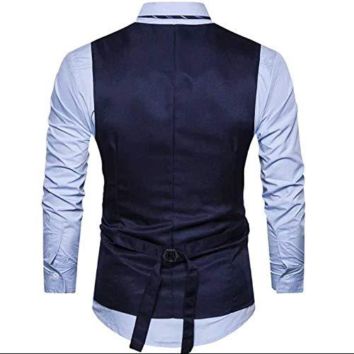 41G8MZ0oWeL. SS500  - Creative Men's Cotton Slim Fit Casual Waist Coat Blue Black_40