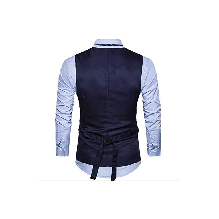 41G8MZ0oWeL. SS768  - Creative Mens Slim Fit Casual Waist Coat 36 Blue Grey