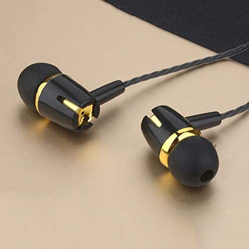 111 Wired Earphone Electroplating Bass Stereo In-ear Headphone with Mic Hansfree Call Phone Earphone for Android iOS