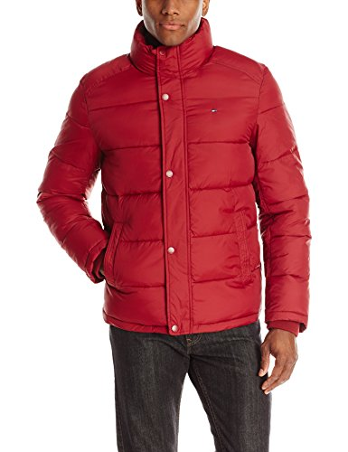 Tommy Hilfiger Men's Classic Puffer Jacket, Red, Medium