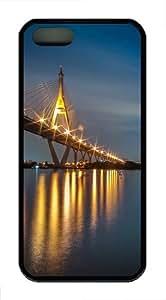 Bridge night TPU Silicone iPhone 5S/5 Case Back Cover - Black