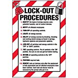 Vinyl Lock-Out Labels - Lock-Out Procedures - 5''h x 3-1/2''w, White LOCK-OUT PROCEDURES# - Super-Stik Adhesive