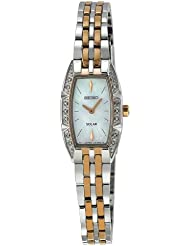 Seiko Womens SUP154 Two Tone Stainless Steel Analog Mother-Of-Pearl Dial Watch
