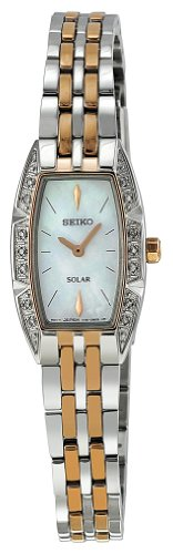 Seiko Women's SUP154 Two Tone Stainless Steel Analog Mother-Of-Pearl Dial Watch