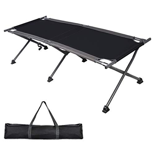 - PORTAL Folding Camping Cot, Compact Collapsible Heavy Duty Adult Sleeping Cot Bed with Storage Bag, Great for Travel Tent, Support 300lbs