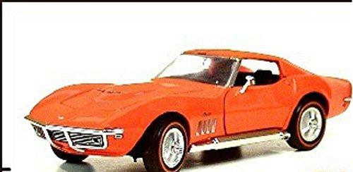 Franklin Mint 1969 CORVETTE 427 STINGRAY COUPE ORANGE MIB B11VB57 1:24