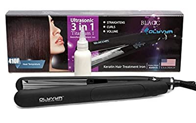 Professional Hair Straightener: Brazilian Keratin Treatment For Gorgeous Hair- Extra Fast Heating Hair Straightening Iron- Repairs Damaged Hair, Delivers Salon Like Results - With Bonus Gloves