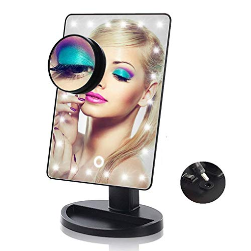 Lighted Makeup Mirror, 24 LED Touch Screen Vanity