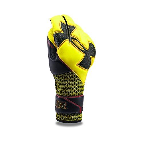 Under Armour Men's Desafio Premier Soccer Gloves, High-Vis Yellow/Black, 9 ()