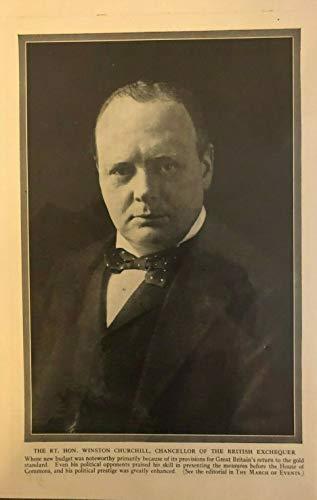 - 1925 Vintage Magazine Print Winston Churchill Chancellor of the Exchequer