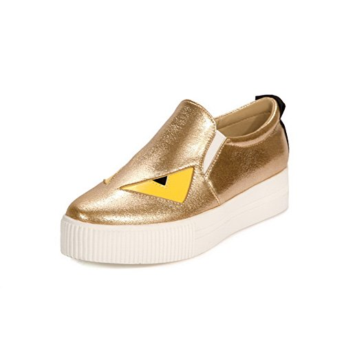 Balamasa Damesplateau Assortiment Kleur Pull-on Urethaan Oxfords-schoenen Goud