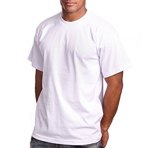 PRO 5 Athletics Mens Short Sleeve T-Shirt, Medium, White