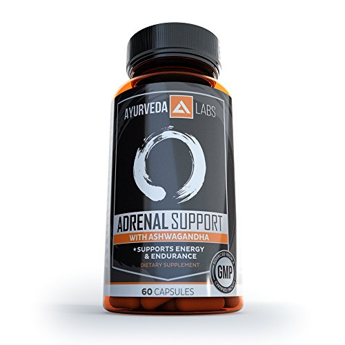 Ashwagandha Adrenal Support - Adrenal Fatigue Supplements Relives Stress & Fatigue, Lowers Cortisol Levels, Maintain Physical & Mental Balance & Energy - 60 capsules Licorice Root Adrenal Fatigue