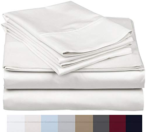 600 Thread Count 100% Long Staple Soft Egyptian Cotton SheetSet, 4 Piece Set, QUEEN SHEETS,upto 17