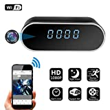 Spy Hidden Camera, ZDMYING Alarm Clock WiFi HD 1080P Cam, with Night Vision/Motion Detection/Loop Recording Home Surveillance Nanny Security Cameras