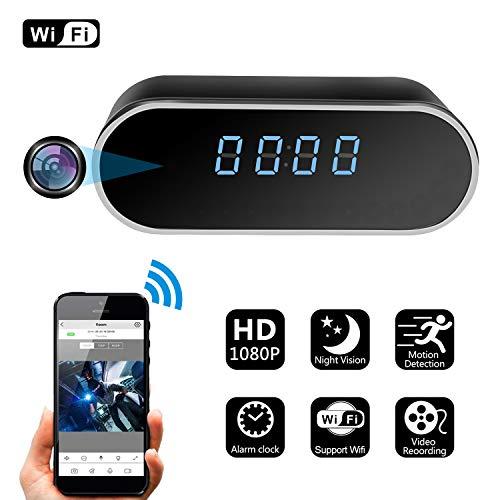 Spy Hidden Camera Zdmying Alarm Clock Wifi Hd 1080p Cam With Night Vision Motion Detection Loop Recording Home Surveillance Nanny Security Cameras