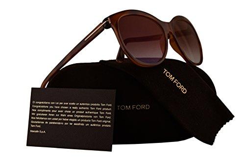 Tom Ford FT0568 Geraldine-02 Sunglasses Light Havana w/Brown Gradient Lens 53G - For Sale Havana Brown