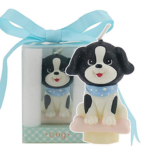 TinaWood Cute Cartoon Dog Birthday Candle, Smokeless Cake Candles Home-Made Cake Topper, Great Decoration for Home Party Children