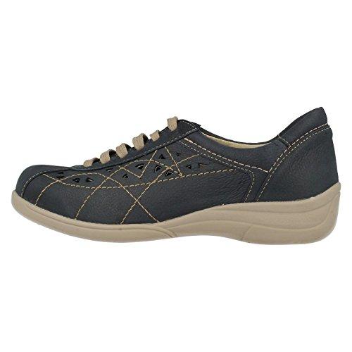 Damen Leichte B Lace Up Flat Casual Hornsea Schuhe Blau