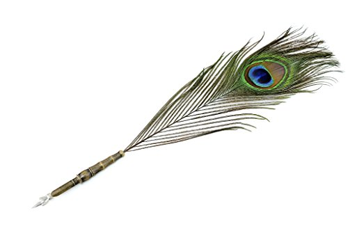 Antique-Peacock-Style-Wedding-Dip-Pen-Writing-Quill-YM-025