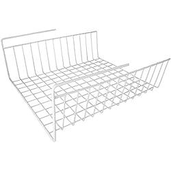 """Under Shelf Wire Rack Basket Kitchen Organizer - White - Easy to Install (12 1/2"""" x 12 1/2"""" x 5 1/4"""")"""