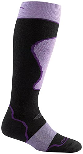 Darn Tough Merino Wool Alpine Ski Over-the-Calf Padded Ultralight Sock - Women's Black Medium