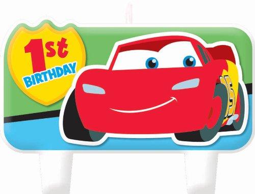 Amscan Disney 1st Birthday Cars Molded -