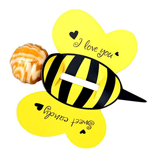 Bee Party Decorations - Bee Birthday Party Decorations - 50pcs/lot Candy Lollipop Decoration Gift Cute Bees Ladybug Butterfly Design Lollypop Card Lovely Props For Kid's Party 3 Colors.