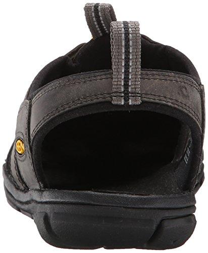 Keen Men's Clearwater Leather CNX Sandals, Brown, 14 UK Black (Magnet/Black Magnet/Black)