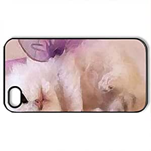 angel Kitten - Case Cover for iPhone 4 and 4s (Cats Series, Watercolor style, Black)