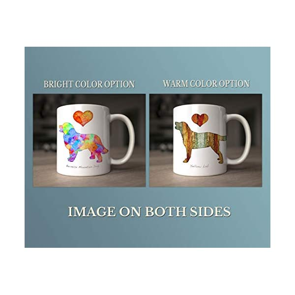 Tibetan Terrier Dog Breed Mug by Artist Dan Morris, Personalize with Dog Name, Two Sizes 2