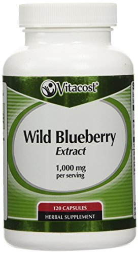Vitacost Wild Blueberry Extract -- 1,000 mg per serving - 120 (Extract 120 Capsules)