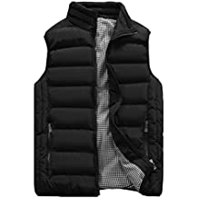 HOW'ON Mens Classic Quilted Down Puffer Vest Black L
