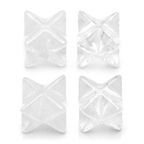 Crytsals Star - QGEM Clear Quartz Merkaba Star- Sacred Geometry Aura Platonic Healing Genuine Crystal Metaphysical,Set of 4