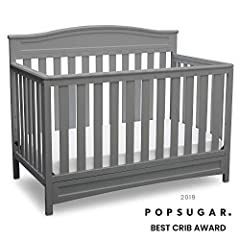 Durable, stable and stylish, the Emery 4-in-1 Convertible Crib from Delta Children will charm for years to come. Converting from a multi-positional baby crib to a toddler bed, daybed and full size bed, it's designed to be a part of your littl...